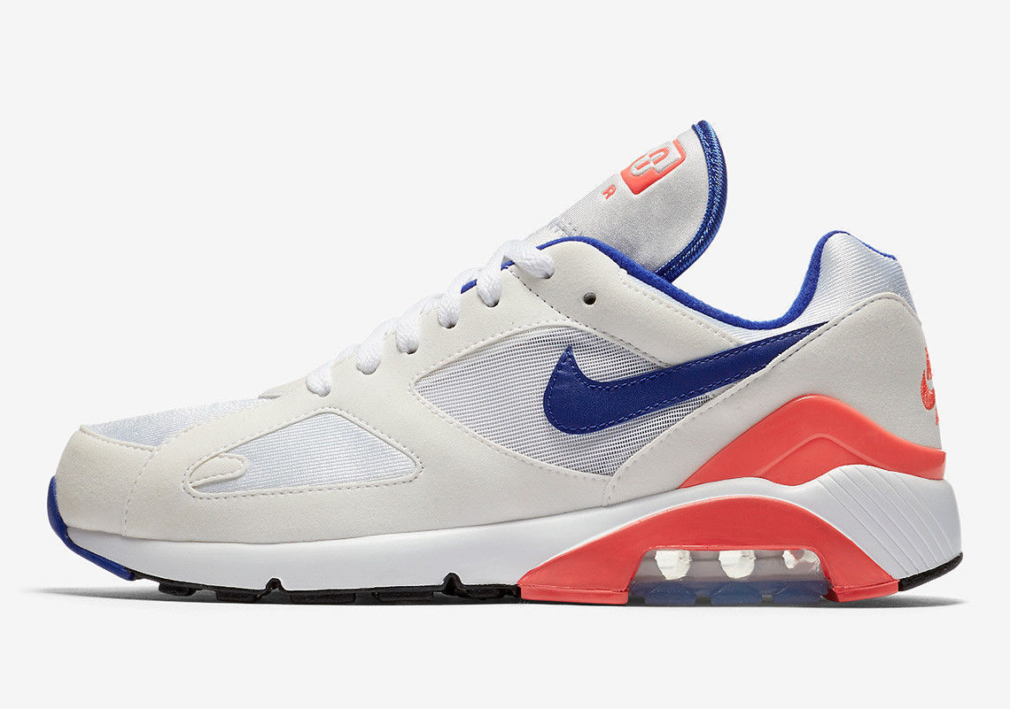 purchase cheap cff07 1f276 NIKE AIR MAX 180 OG WHITEULTRA-MARINE SOLAR RED MEN SIZE 9.5 NEW 615287 100