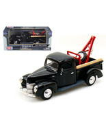 1940 Ford Pickup Tow Truck Black 1/24 Diecast Model Car by Motormax 7323... - $31.12