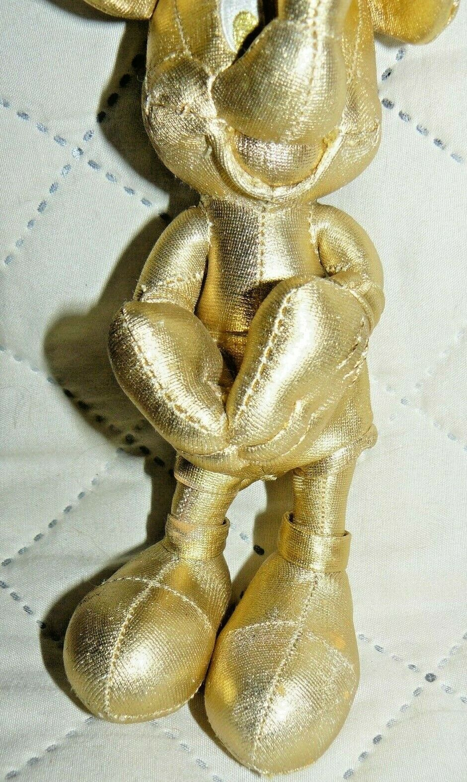 """Disney Store Mickey Mouse Plush 7"""" Gold Collection 90th Birthday image 3"""