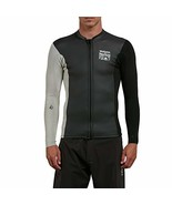 Volcom Men's Chesticle Wetsuit Jacket, Black/White, Large - $79.22