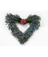 Love You Lavender Heart Wreath- dried lavender wreath - $55.00