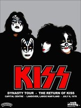 "KISS Band Dynasty Tour ""The Return Of KISS"" Stand-Up Display - Collectibles - $15.99"