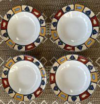 "Studio Nova Nantucket Soup Bowls Set of 4 HG201 Mint Unused 8.25"" Ocean Themed - $29.99"