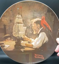 """Vtg Norman Rockwell Collectible Plate 1980 by Knowles """"The Ship Builder"""" - $12.99"""