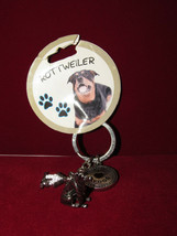 Rottweiler Keychain Little Gifts I Love My Dog NEW keyring - $8.00