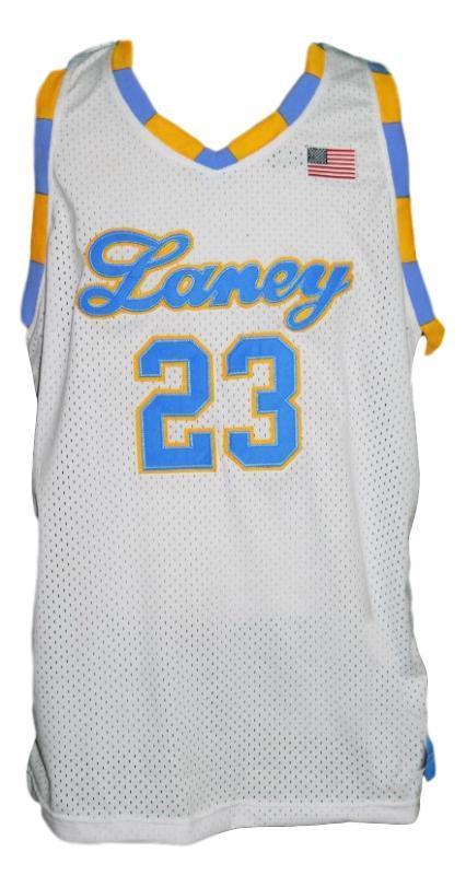 Michael jordan  23 laney high school basketball jersey white   1