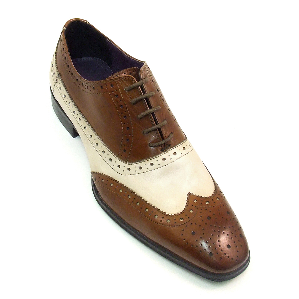 Brown Spectator Shoes