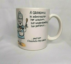 Vtg Shoebox Hallmark Grandma & Her Chocolate Cookies Coffee Mug Cup 1988 - $9.89