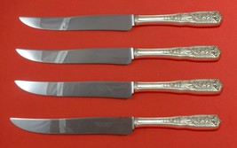 Milburn Rose by Westmorland Sterling Silver Steak Knife Set Texas Sized ... - $286.11