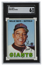 Willie Mays San Francisco   1967 Topps #200 Baseball Card SGC 6 EX-NM - $287.09