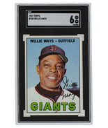Willie Mays San Francisco   1967 Topps #200 Baseball Card SGC 6 EX-NM - $281.29