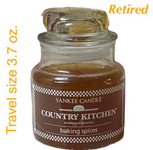 Yankee Candle BAKING SPICES Jar Candle 3.7 Oz Brand New Travel Size Retired - $24.65