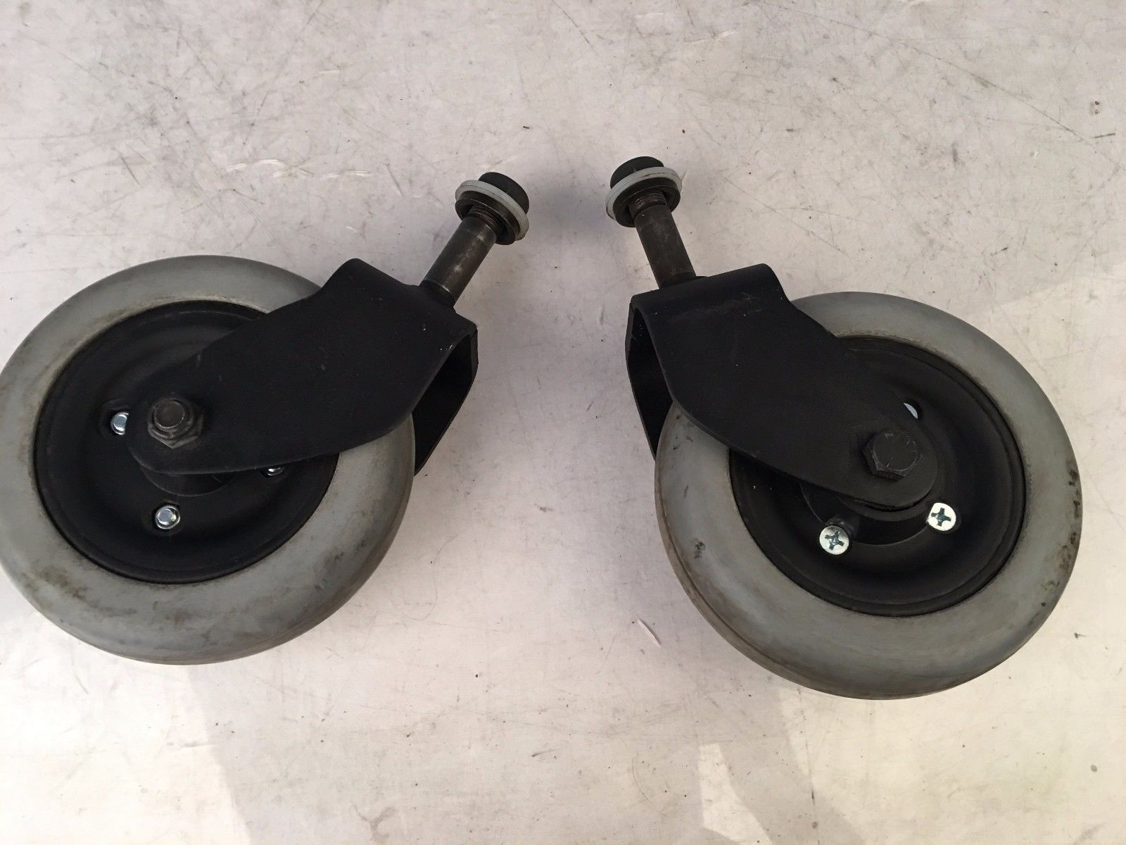Invacare M-91 Surestep Caster Arms w/ Wheels for Power Wheelchairs