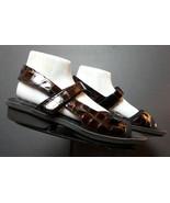 Women's 1803 Portugal Faux-Croc Patent Leather Slingback Sandal Sz. 40/9... - $53.96