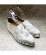 Franco Sarto Womens Fabrina  Sz 9 M Silver  Slip On Loafer Low Platforms - $27.99