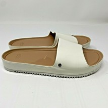 UGG Australia Women Size 7 Jane Patent Slides White Slip On Open Toe San... - $78.21