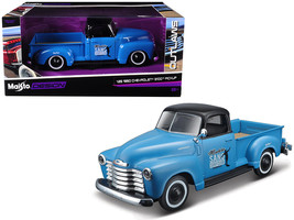 "1950 Chevrolet 3100 Pickup Truck Blue with Black Top ""Madero Sano Surf ... - $33.78"
