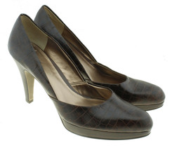 Carlos Santana Brown Embossed Leather Pumps Heels Sz 9M  - $22.76