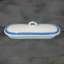 Antique Covered Porcelain Vegetable Dish (?), Unusual, Unmarked, Long/Na... - $12.19