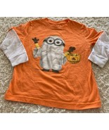 Despicable Me Boys Minions Halloween Ghost Orange White Long Sleeve Shir... - $5.95