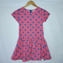 Mini Boden Pink with Blue Polka Dot Dress Size 9 10 - $14.01