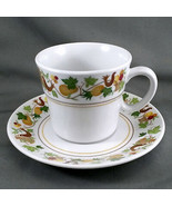 Noritake Homecoming Tea Cup and Saucer White Birds Fruit Progression 9002 - $7.43