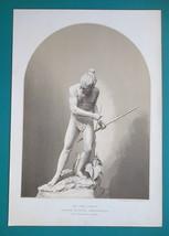 INDIAN HUNTER On Trail Sculpture from Brazil -1876 Philadelphia World Fa... - $31.50