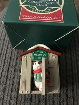 HALLMARK OUR CLUBHOUSE 1988 CLUB CHRISTMAS KEEPSAKE ORNAMENTS MOUSE HOUSE - $3.95