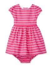 Ralph Lauren Sgtriped Fit & Flare Girls Dress & Bloomer (Pink/White, 12 ... - $34.90