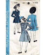 1940's REEFER COAT Pattern 9601-h Girl Size 10 - $12.99
