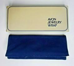 1970's Avon Jewelry Wrap Navy Blue New With Box - $14.99