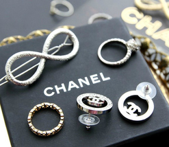 Authentic Chanel CHANEL 2017 Large Crystal CC Logo Circle Earrings -Gorgeous! image 6