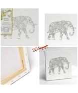 "Johanna Basford 12"" X 12"" Magical Jungle Coloring Canvas - Elephant  - $22.99"