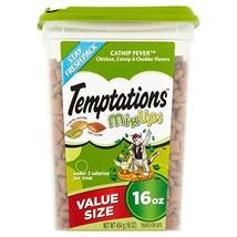 TEMPTATIONS MixUps Cat Treats Chicken, Catnip, Cheddar, 16 oz. -Pack of 3 - $33.62