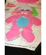 1986 Vtg Prize Popple Pillow Fabric Panel Pink Pouch #6749 Instructions ... - $29.95