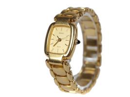 Auth RADO 205.9513.2 Gold Plated Band Women's Quartz Watch RW13437L - $138.57