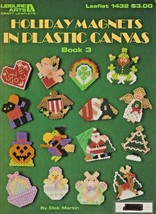 "Leisure Arts ""Holiday Magnets In Plastic Canvas"" Book 3 - 16 Designs -Ge... - $4.00"