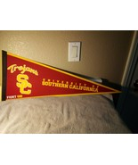 USC TROJANS--BANNER / PENNANT--FIGHT ON--12 X 30 --FELT---FREE SHIP--NEW - $17.28