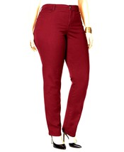 Style&Co Size 16 Short Jeans Slim Leg Womens Deep Scarlet Denim Stretch ... - $20.68