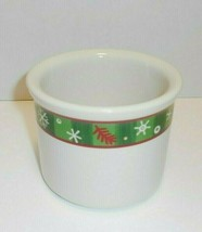 Longaberger Pottery Christmas Holiday One Pint Crock 2004 Snowflakes New - $6.68