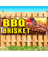 BBQ BRISKET Advertising Vinyl Banner Flag Sign Many Sizes CARNIVAL FOOD - $14.24+