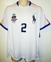 Ralph Lauren - Rlx - Soccer - Jersey - Big Pony - White - Blue - Large - New - $62.99