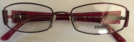 Fendi New Authentic Eyeglass Frame F878 (618) Bordeaux 52-17-135 with Case - $148.67