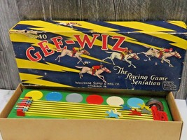 Wolverine Toys Gee-Wiz No.40 Sunny Andy Horse Racing Game with Box Works  - $48.51