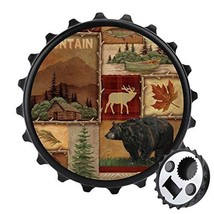 Deco4URLife 2PCS Bottle Opener Fridge Magnet, (Rustic Lodge Bear Moose D... - $14.54