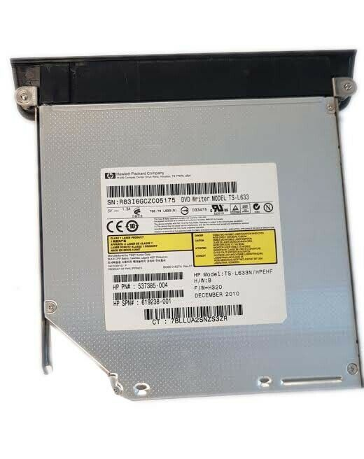 OEM HP Sata Assembly DVD Drive With Bezel 537385-004 FC0 TS-L633N For Windows 7 - $12.97