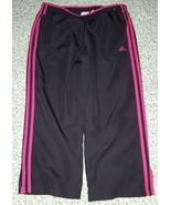 Women's Adidas Capri Activewear Lined Pants Navy Blue Fuschia, Running W... - $14.85