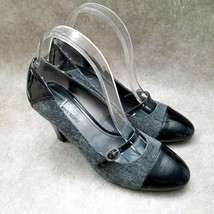 "Anne Klein Womens Sweet Pea  Sz 7.5 M Gray Slip On Mary Jane 3"" Heels Pumps - $27.99"