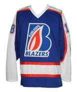 Custom Name # Kamloops Blazers Retro Hockey Jersey New Blue Pickell #18 ... - $54.99+