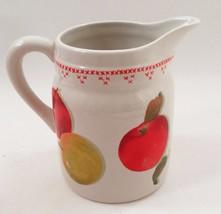 Mint Hallmark Jan Karon Mitford Red & Yellow Delicious Apples Milk Pitcher Jug - $17.77